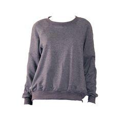 Elizabeth and James Dark Heather Grey Cozy Jordans Sweatshirt with... ($264) ❤ liked on Polyvore