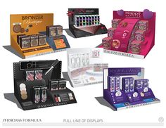 Professional Work from PCA. POP display bids for multiple lines of cosmetic products from Physician's Formula.