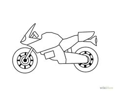 motorcycle drawing pics  Drawing a cartoon motorcycle in 2018 | Graphics and Drawing Ideas ...
