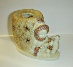 Vintage Snow Baby Candle Holder Figurine by PopcornVintageByTann