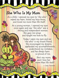 Mom wall art is one of the best ways to honor a mom you know or even better yourself. Mom wall art is especially trendy not only as Mothers Day wall art Miss Mom, I Love Mom, Mom And Dad, Mom Poems, Mothers Day Poems, Smile Quotes, Happy Quotes, Quotes To Live By, Love Quotes