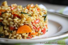 Risotto, Grains, Vegetables, Ethnic Recipes, Food, Essen, Vegetable Recipes, Meals, Seeds