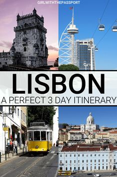 Lisbon 3 Day Itinerary: A Guide to Falling in Love with this Enchanting City - Girl With The Passport Travel Around Europe, Europe Travel Guide, Travel Destinations, Travel Guides, Spain And Portugal, Portugal Travel, Best Places To Travel, Cool Places To Visit, Algarve