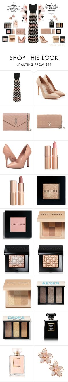 """""""#rosegold"""" by borislava-zo3bi ❤ liked on Polyvore featuring Alexander McQueen, Yves Saint Laurent, Louise et Cie, Charles by Charles David, Charlotte Tilbury, Bobbi Brown Cosmetics, Chanel, NAKAMOL and Allurez"""
