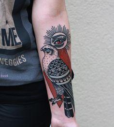 hawk traditional tattoo bydgoszcz
