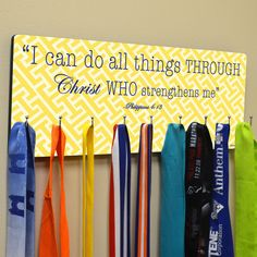 Hooked On Medals Hanger I Can Do All Things  Medal by GoneForaRUN