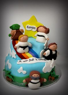 Star Wars Baby Shower Cake! Bobble Head Topper Found On Amazon! | Baby  Shower | Pinterest | Babies, Cakes And War