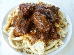 MARI PLATEAU: Κερκυραϊκή Παστιτσάδα European Cuisine, Greek Recipes, Seafood, Pasta, Beef, Chicken, Vegetables, Cooking, Ethnic Recipes