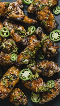 Add a spicy kick to your party spread with these zesty chimichurri chicken wings.