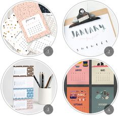 Freebie Roundup: 14 Printable 2014 Calendars