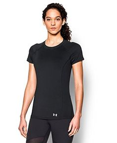 Under Armour Women's UA CoolSwitch Trail Short Sleeve Small Black | AMAZON.COM saved by #ShoppingIS