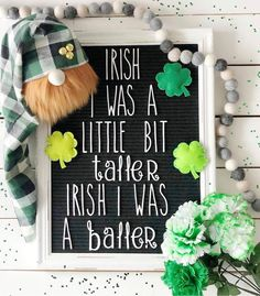 decor Letterboard Accessories by WordsWithMeans on Etsy Word Board, Quote Board, Message Board, Chalk Board, St Paddys Day, St Patricks Day, Amazing Quotes, Cute Quotes, Letterboard Signs
