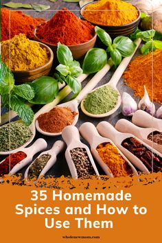 Looking for Homemade seasoning blends recipes? 35 Homemade Seasoning Mixes and how to use them to add great flavor to your food! Easy recipes you can make to save you money! Make healthier spices with these DIY Homemade spice mixes and blends! Healthy Dips, Healthy Appetizers, Healthy Recipes, Easy Recipes, Homemade Spices, Homemade Seasonings, Herbs For Hair Growth, Spice Mixes, Real Food Recipes