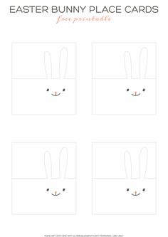 Easter bunny place cards - Easter party mini kit {free printable + tutorial} | She art