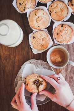 Milk and Honey: Chocolate Chip and Nut Muffins