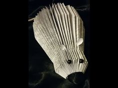 BOOK FOLDING - BOOK ART - Mouse - YouTube