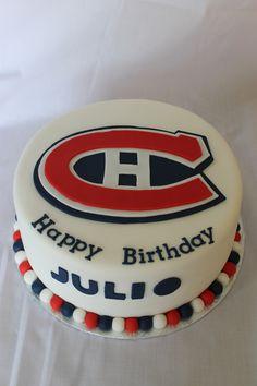 Montreal Canadians birthday cake Hockey Birthday Parties, 13th Birthday, Birthday Cakes, Montreal Canadiens, Hockey Cakes, 40th Cake, Farm Stand, Cake Creations, Cake Ideas