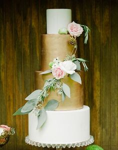 76. When you can't decide what color for your cake because there are so many gorgeous hues, do more than one, like this gorgeous four tiered cake! See more of these Earthly Garden Ideas here captured by Merari Photography with cake by Earth and Sugar.