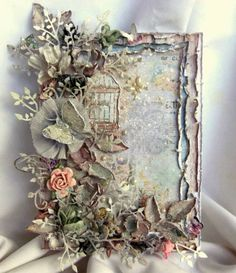 Ideas Vintage Cards Hand Made Shabby Mixed Media For 2019 Shabby Chic Karten, Shabby Chic Cards, Vintage Frames, Vintage Cards, Diy And Crafts, Paper Crafts, Mixed Media Cards, Pretty Cards, Flower Cards