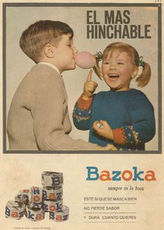 Bubble Gum in hair.not so funny Old Posters, Travel Posters, Vintage Posters, Retro Ads, Retro Vintage, Retro Advertising, Vintage Toys, Propaganda Coca Cola, Best Memories