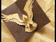How to Make a Kirigami Eagle Pop-up Card