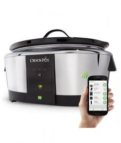 If you've ever felt uneasy about leaving the slow cooker on while you're not home, this smart appliance is here to save the day. An iOs and Android compatible app allows you to adjust the settings—cooking time, temperature, and more—from afar.