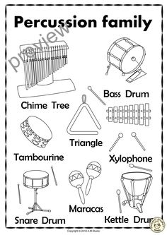Coloring pages wind chimes ~ Tenor-drum Coloring Page | Color Tenor-drum | coloring ...