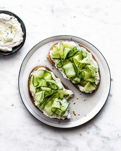 Eat your greens on Ezekiel Sprouted Whole Grain Bread with this Shaved Cucumber Lemon Herb Labneh Toast recipe. Sprouted Whole Grain Bread, Clean Recipes, Healthy Recipes, Healthy Food, South Korean Food, Cucumber Seeds, Food Photography Tips, Photography Composition, Pizza