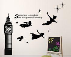 Disney Peter Pan muur Decal Tinkerbell door CustomVinylDecorShop