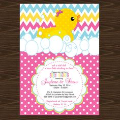 Rubber Duck Baby Shower Invitation It's a by ADTRCustomDesigns, $10.00