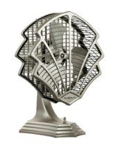 Fanimation OF6320SN Fitzgerald Table top/ Wall Mounted Fan, Satin Nickel Finish, 3 Blades