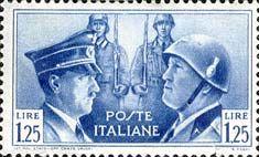 Francobolli d'Italia | 1941 Fratellanza d'armi italo-tedesca
