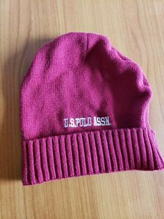 fbb4d1e76b9b0 Child Toddler Maroon US Polo Assn Skully Beanie Fitted Stretch SZ One Size  Child