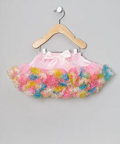 Pink & Blue Glitter Carnival Pettiskirt - Infant, Toddler & Girls by Ella's Tutus on #zulily