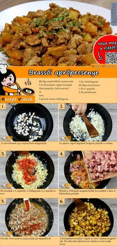 Brassói aprópecsenye recept elkészítése videóval Meat Recipes, Vegetarian Recipes, Dinner Recipes, Cooking Recipes, Healthy Recipes, Hungarian Cuisine, Hungarian Recipes, Pork Dishes, Vegan Dishes
