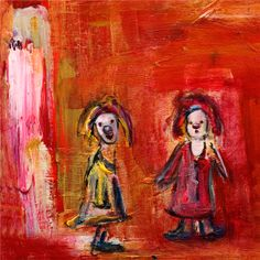 Marianne Aulie - S�stre Clown Images, Madonna, Art Work, Fine Art, Texture, Contemporary, Abstract, Artist, Painting
