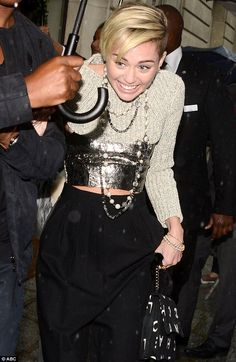 I know Miley's a hot mess but this Chanel outfit is amazing #DailyMail