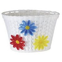 Had this exact basket on the front of my banana seat bike.  * ME TOO!!!  And I've been looking for another one for my new baby blue bike now (I'm 47 but still bought a powder blue bike that needs a gurlie basket like this!)