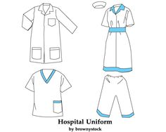 Vector template for baseball uniform includes vest and pinstripes hospital uniform template free vector free vector pronofoot35fo Image collections