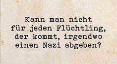 #flüchtling vs. nazi                                                                                                                                                                                 Mehr