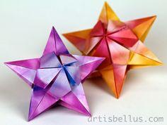 Origami Decorations: Bitterroot Stars
