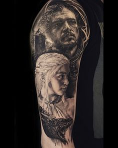 Game of thrones Tattoo, done by Stefan Müller Black Rainbow Tattoo Theatre Zwickau