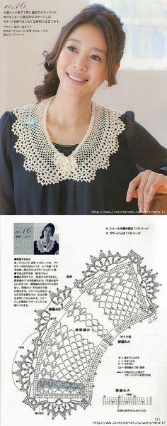 18 Best Ideas for crochet lace scarf pattern table runners Col Crochet, Crochet Lace Scarf, Crochet Shawls And Wraps, Crochet Scarves, Crochet Motif, Crochet Clothes, Free Crochet, Crochet Collar Pattern, Crochet Diagram