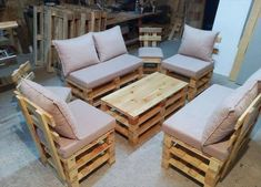 wooden pallet seating