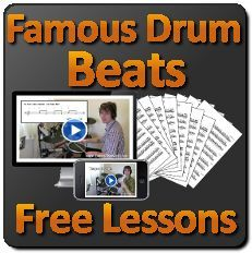 Learn how to play famous drum beats played by legendary drummers!