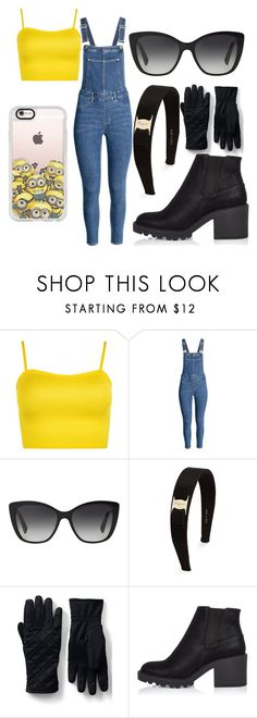 """""""Minion"""" by lauren53103 on Polyvore featuring WearAll, Dolce&Gabbana, Salvatore Ferragamo, Lands' End, River Island, Casetify, Costume and Minion"""