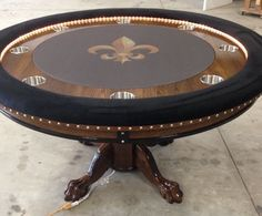 Beau Round New Orleans Saints Sports Themed Poker Tables Round Poker Table, Poker  Table Diy,