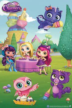 The Little Charmers enjoy some delicious treats! Nick Jr, Bear Halloween, Little Charmers, Shimmer N Shine, Tatty Teddy, Cute Creatures, Cartoon Kids, Party Themes, Diy And Crafts