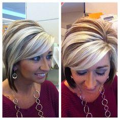 . Blondie blonde w a few chunky low lights