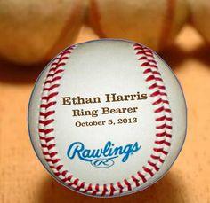 Ring Bearer Gift, Personalized Baseball, Custom Wedding Gift, Engraved Baseball Gift for Ring Bearer